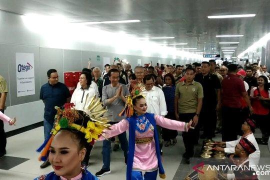 Presiden Jokowi tiba di Stasiun MRT Senayan