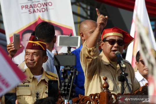 Kampanye Prabowo di Makassar dihadiri puluhan ribu orang