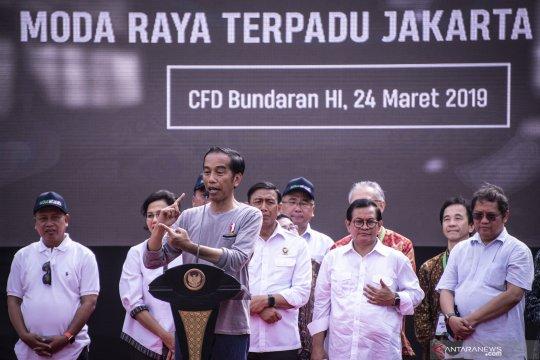 Presiden berharap 10 tahun terbangun 231 km jalur MRT