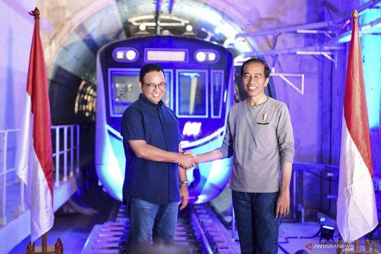 Presiden Jokowi dijadwalkan resmikan MRT hari ini