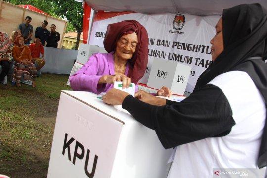Simulasi pemungutan suara Pemilu 2019