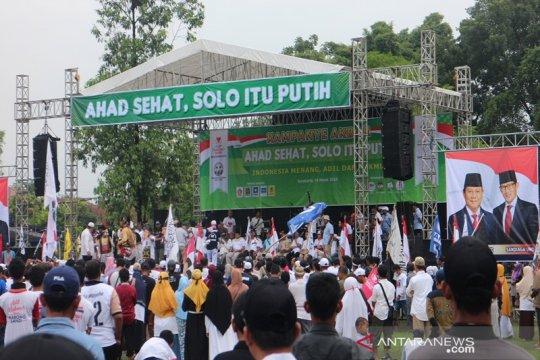 Ribuan pendukung Prabowo-Sandiaga kampanye di Solo