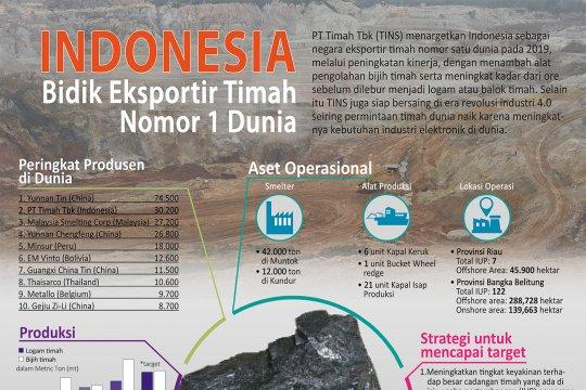 Indonesia Bidik Eksportir Timah Nomor 1 Dunia