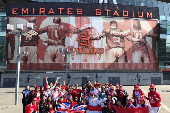 Indonesia Raya bergema di Stadium Emirates London