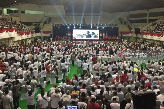 Ribuan warga Malang padati GOR Ken Arok dukung Jokowi-Ma'ruf