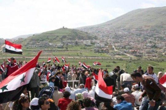 Rakyat Hasaka kecam pernyataan Trump mengenai Dataran Tinggi Golan