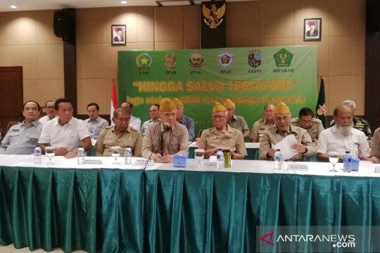 Veteran dan purnawirawan TNI-Polri ingatkan polarisasi ganggu keutuhan