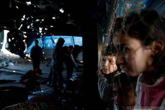 Masjid di Gaza rusak dihantam serangan udara Israel