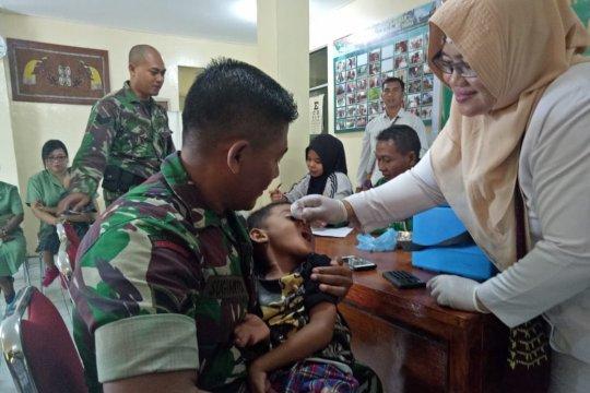 Imunisasi polio diberikan kepada 35.583 anak di Mimika-Papua