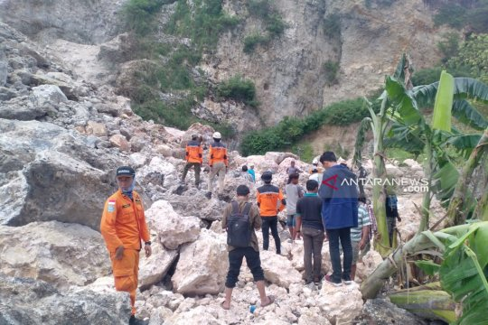 SAR cari korban tertimbun longsor Gunung Kapur Jember
