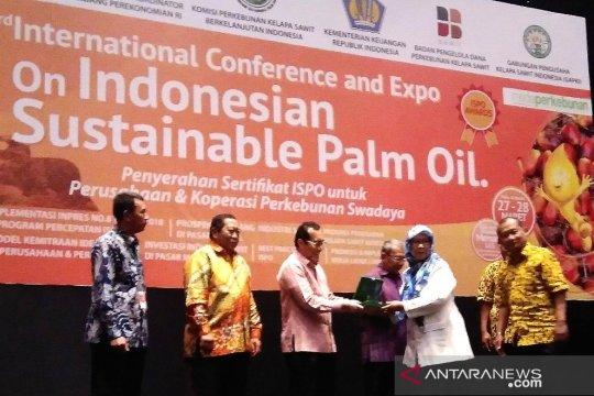 Sekitar empat juta ha areal sawit peroleh sertifikasi ISPO