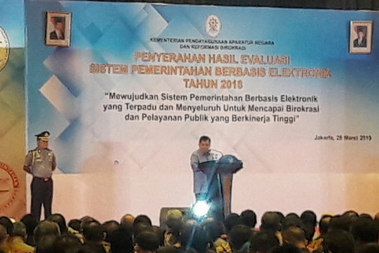 Wapres hadiri penyerahan SPBE 2018 kepada instansi pemerintah