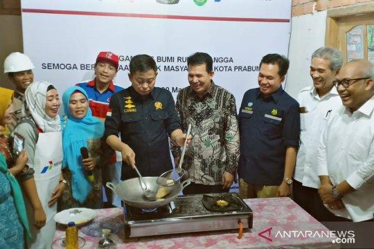 Menteri resmikan jaringan gas rumah tangga Prabumulih