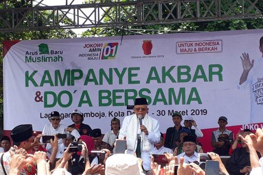 KH Ma'ruf Amin ingin dulang suara di Depok