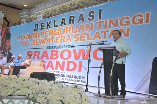 Para alumni perguruan tinggi di Sumsel deklarasi dukung Prabowo-Sandi