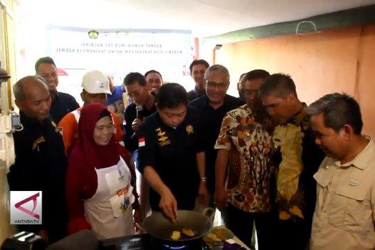 Jaringan gas rumah tangga terpasang untuk warga Cirebon