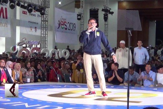 Awali kampanye, Sandiaga sasar kaum milenial di Sragen