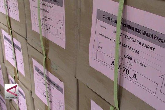KPU Kota Mataram terima 20% Surat Suara Pemilu 2019