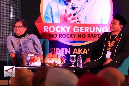 Tak berizin, talk show Rocky Gerung tetap berlangsung