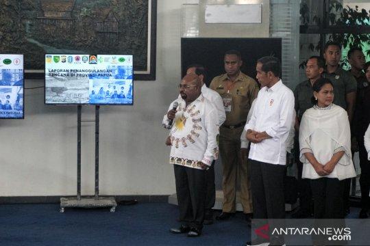 Presiden tiba di Kabupaten Jayapura tinjau penanganan banjir bandang