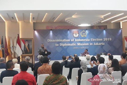 KPU bagikan informasi soal Pemilu 2019 kepada 170 duta besar