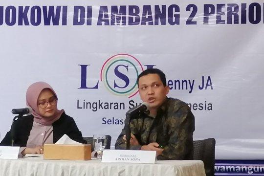 LSI: Elektabilitas Jokowi-Ma'ruf unggul telak dari Prabowo-Sandi