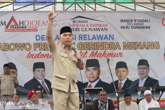Gerindra Optimistis Prabowo-Sandi Raup 70 Persen Suara Warga Sukabumi