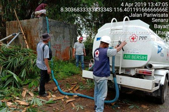 PMI distribusikan 12 ribu liter air bersih untuk Desa Senaru