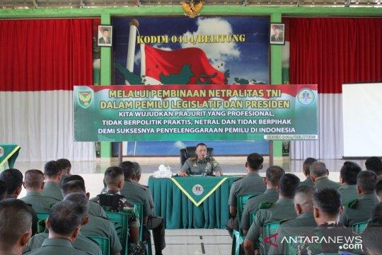 Danrem kunjungi Pulau Belitung pastikan netralitas prajurit