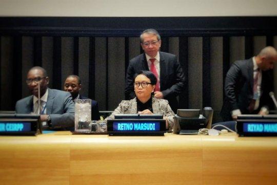 Menlu tegaskan Indonesia selalu bersama Palestina