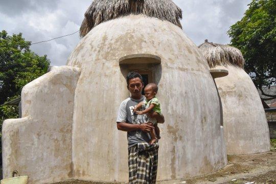 Rumah keong korban gempa Lombok