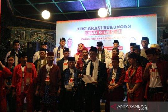 Seniman Betawi se-Jabodetabek deklarasikan dukungan untuk Jokowi