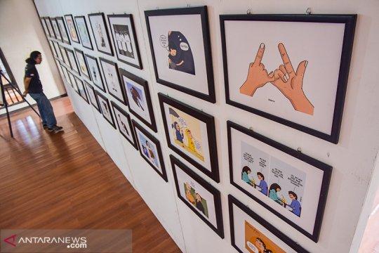 Dua Kartunis Pekanbaru pamerkan 102 karya satire Pemilu