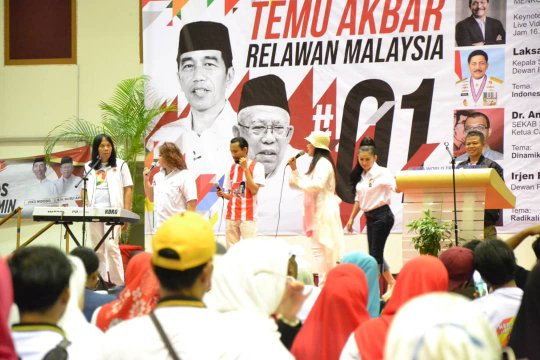 1.200 relawan Jokowi - Ma'ruf hadir di Kuala Lumpur