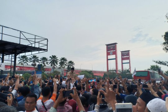 Kampanye di Palembang, Prabowo soroti keberadaan LRT