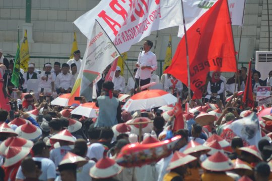 Jokowi: nikmati pesta demokrasi dengan gembira