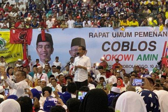 Jokowi sebut akan ada kejutan besar di Jatim terkait pilpres