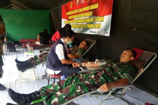 Ribuan warga ikuti pengobatan gratis Korem 162/WB-Kementerian BUMN