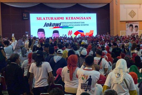 Jokowi tak ingin muluk-muluk pasang target menang di Depok