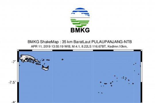Gempa bumi magnitudo 4,1 mengguncang Lombok Utara