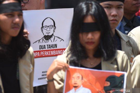 Aksi dukung pengungkapan kasus Novel