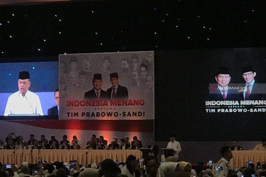 Prabowo perkenalkan Gatot Nurmantyo di barisan pendukungnya