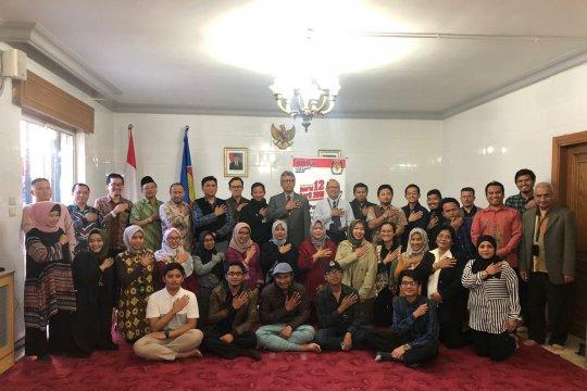 Pesan pemilu damai kepada diaspora Indonesia di Jordania