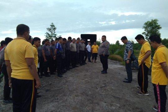 Polres Bangka Tengah Tertibkan Aktivitas Tambang Bijih Timah Liar