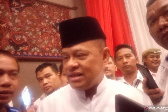 Gatot Nurmantyo menghadiri pidato kebangsaan Prabowo di Surabaya