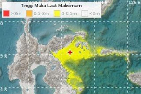 Gempa Banggai 6,9 magnitudo terasa sampai Makassar
