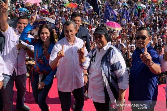 Menteri LHK bareng Gubernur-Wagub Riau kampanye untuk Jokowi di Rohul
