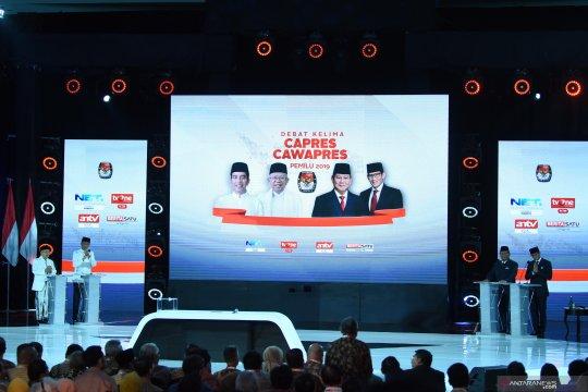 Debat Capres terakhir diramaikan lebih dari sejuta cuitan