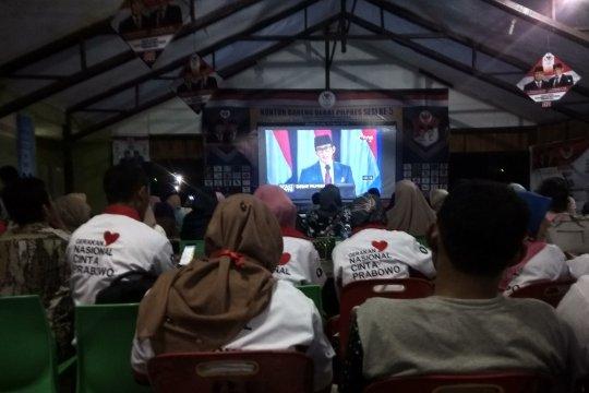 Belasan Ormas pendukung Prabowo-Sandi gelar nonton bareng di Aceh