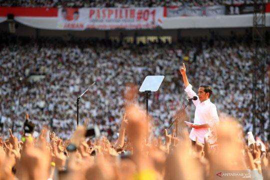 Jokowi ucapkan terima kasih kepada partai pendukung